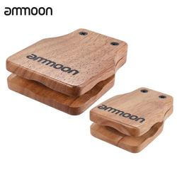 ammoon 2pcs Cajon Box Drum Large & Medium Companion Accessory Castanets for Hand Percussion Instruments
