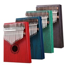 Kalimba 17 Key Kalimba Thumb Piano 17 Mbira Kalimba Instrument Mahogany Wood Kalimba Musical Instrument Percussion Instrument kalimba piezo pickup mbira accessories thumb piano pick up musical instruments