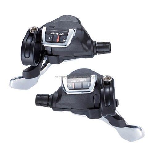 microSHIFT TS83-9 3 x 9 Speed Road Bike Thumb-tap Shifter for Shimano Black