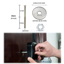 1Set 3-In-1 Mounting Screws Of Door Peephole Viewer For Our Key Safe Storage Box Long Screws+Nut+Washer