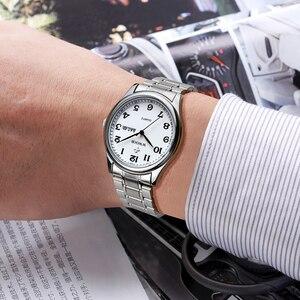 Image 5 - WWOOR reloj de cuarzo para hombre, reloj Masculino de pulsera, deportivo, informal, de acero inoxidable