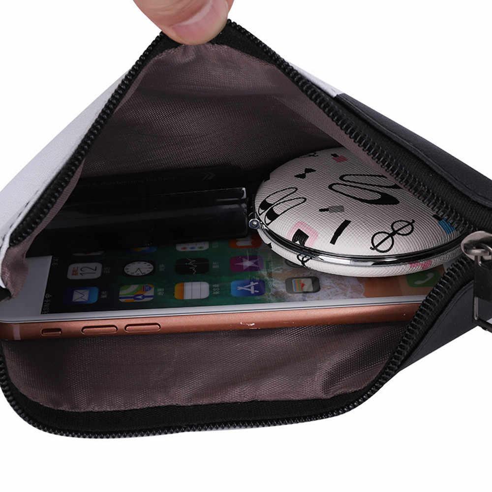 Mulheres de Couro Da Moda Cor Panelled Zipper bolsas de couro carteira de Embreagem Saco de Moeda Saco Bolsa de Maquiagem das mulheres do sexo feminino bolsa saco de dinheiro