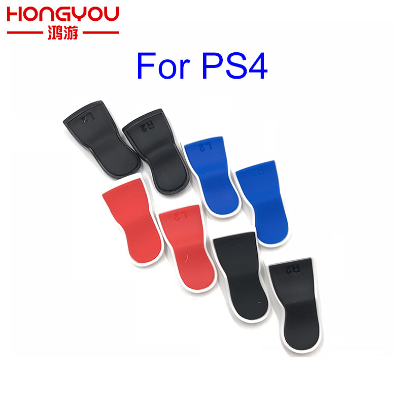 20sets Rubber Extended L2 R2 Trigger Extender Pro For PS4 Controller with 2 Thumbstick caps L2
