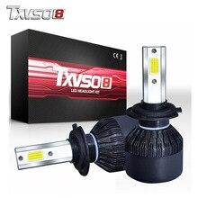 купить TXVSO8 2pc led H7 LED Car Fog Light Bulbs Kits-With Flip COB Chips-55W 26000LM 6000K Auto Led Headlight Bulb luces led para auto дешево