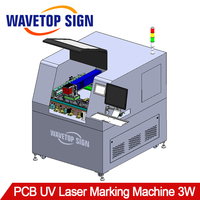 DL 450 PCB UV Laser Marking Machine 3W+ CCD Visioin System+X Y Moving Platform+Auto marking+Support online/offlin+ Overflip type