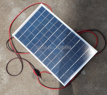 10Watt Polycrystalline Solar Panel 3M Cable Crocodile Clip For 12V Car Boat Motor Battery Solar Charger