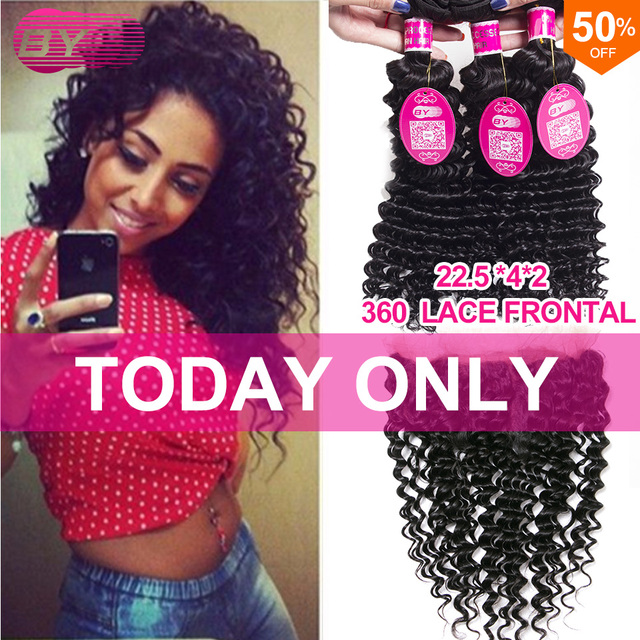 Mink Brazilian Virgin Hair With Frontal 360 Lace Frontal With Bundle