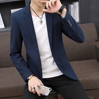 2019 Mens Blazer Suit Korean Models Small Suit Male Solid Color Men's Wear Loose Coat Generation Hair Blazer Jacket Hombre Men