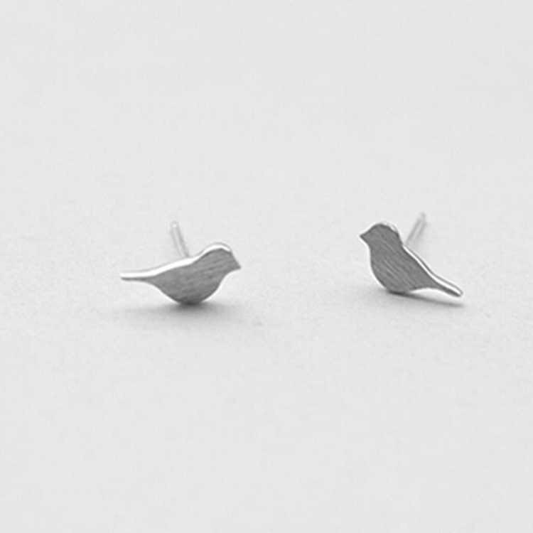 925 prata esterlina evitar alergia animal pássaro parafuso prisioneiro brincos para o casamento feminino jóias eh564