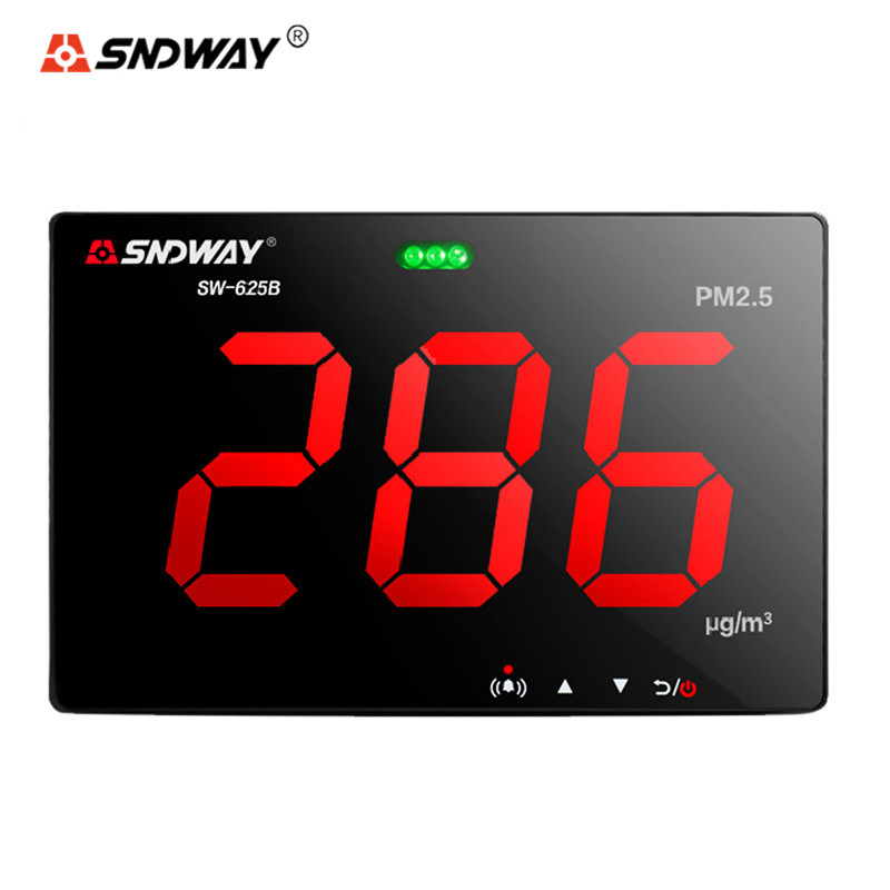 SNDWAY SW-625B Air Quality Monitor Mini Laser PM2.5 Gas Analyzer Detector Wall Mounted Inovafitness Diagnostic Tool for Home digital air quality monitor laser pm2 5 detector tester gas monitor gas analyzer temperature humidity meter diagnostic tool