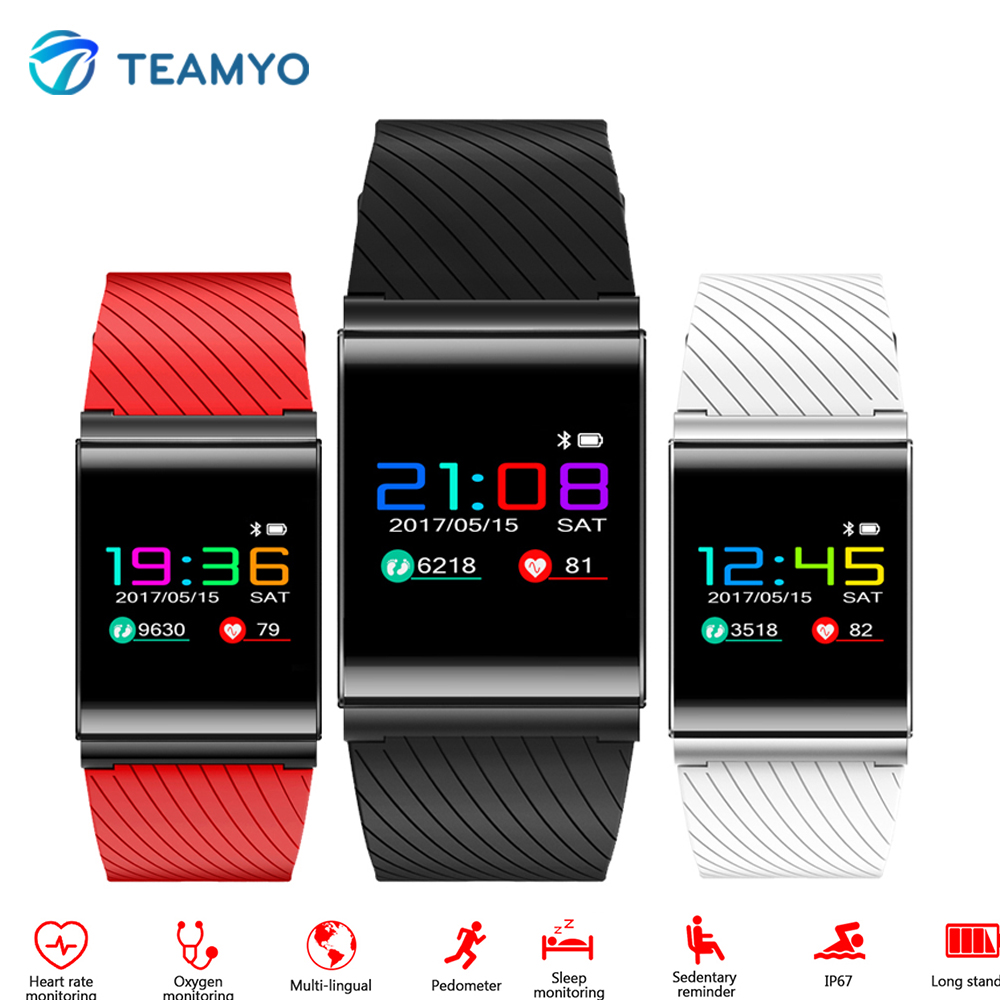 Teamyo X9 Pro Color OLED Smart Bracelet Watches Blood Pressure Heart Rate Monitor Smart Wristband Fitness