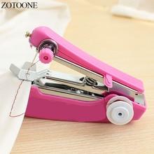 ZOTOONE 1PCS Portable Mini Manual Sewing Machine Cloth Fabric Handy Needlework Tool Simple Operation Tools