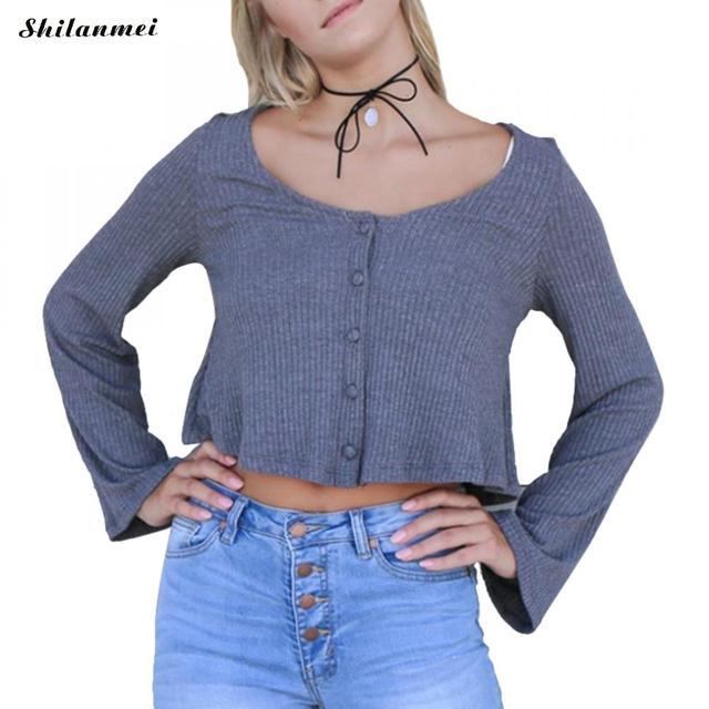 1124f3390 2018-Women-Slim-O-Neck-Knitted-Cardigan-Long-Sleeve-Cropped-Cardigan-Sweaters-Ladies-black-gray-Short.jpg 640x640.jpg