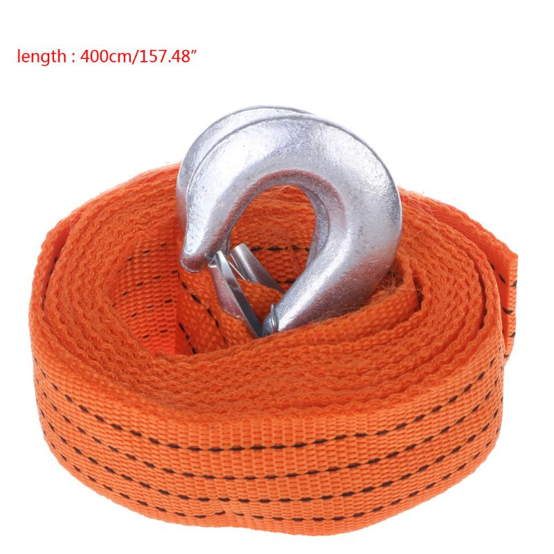 все цены на Car Van 4M 5 Ton Tow Towing Pull Rope Strap Hooks Heavy Duty Road Recovery онлайн