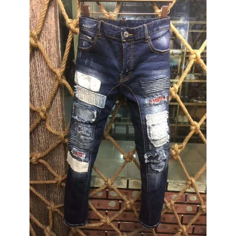 خليط ممزق جلوريا جينز للرجال الهيب - ملابس رجالية