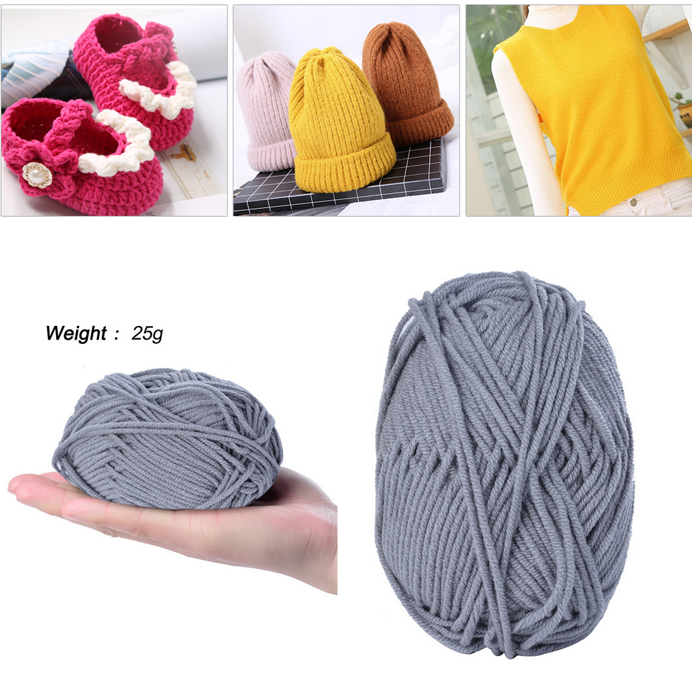 Retail 25g/ball Colorful 4# Combed Soft Baby Milk Cotton Yarn Fiber Velvet Yarn Hand Knitting Wool Crochet Yarn DIY Sweater