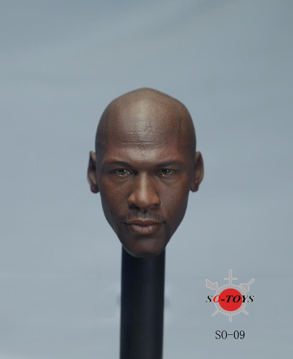 ФОТО  1/6 Scale NBA Star Michael Jeffrey Jordan Head Sculpt 2 Version SO-009 For 12