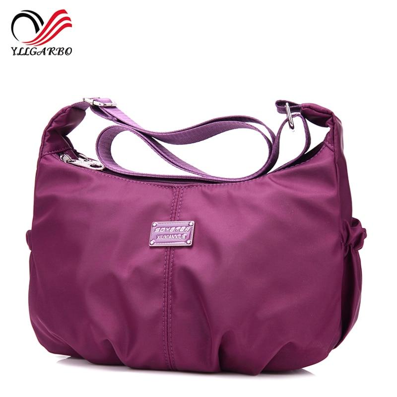 2018 New Women Simple Style Crossbody Bag Ladies Waterproof Nylon Handbag Female Travel Casual Shoulder Small Bags bolsa sac