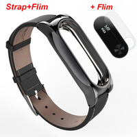 Xiaomi Mi Band 2 Strap With Leather Replacement Smart Wristband Colorful Mijobs Miband2 MiBand 2 Strap