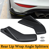 2pcs Universal Car Rear Bumper Lip Wrap Splitters Side Skirt Extensions Scratch Guard