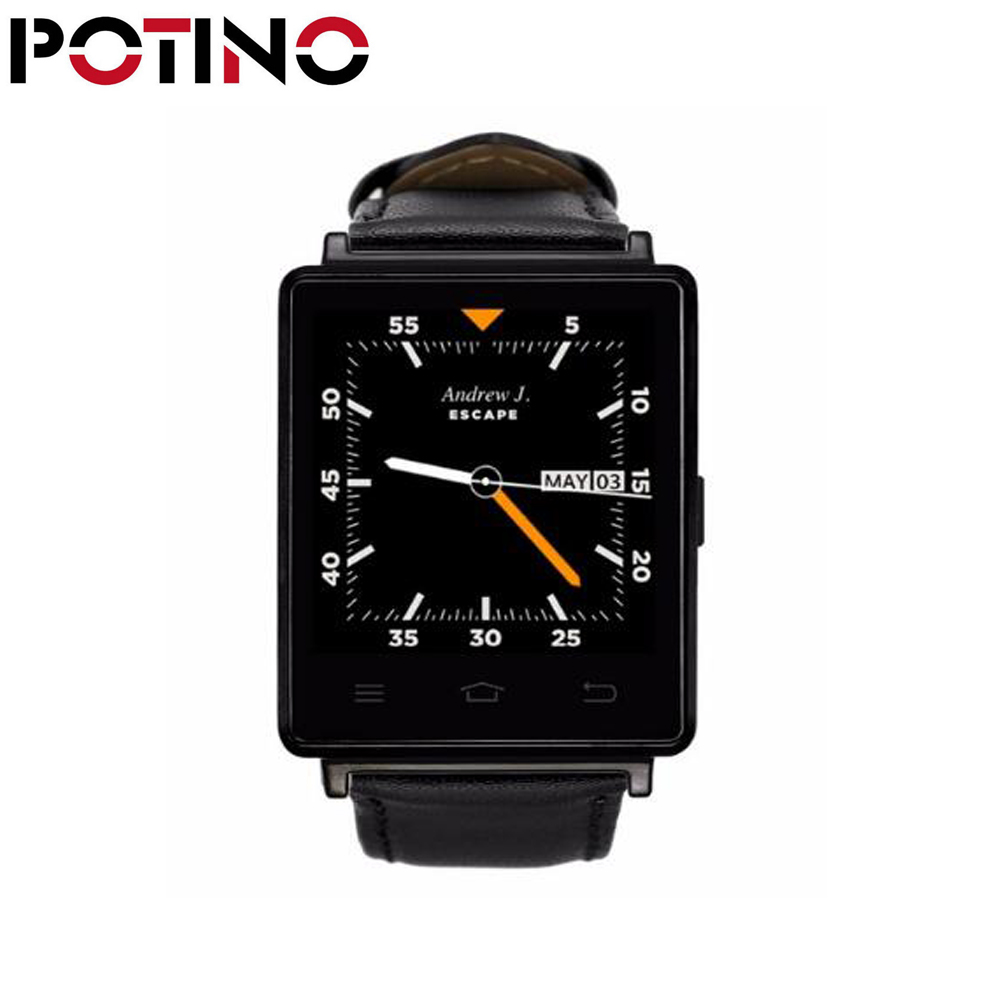 POTINO NO.1 D6 3G Bluetooth 4.0 GPS WiFi Smartwatch Phone Health Monitor Android 5.1 MTK6580 Quad Core 1.3GHz 1GB RAM no 1 d6 1 63 inch 3g smartwatch phone android 5 1 mtk6580 quad core 1 3ghz 1gb ram gps wifi bluetooth 4 0 heart rate monitoring
