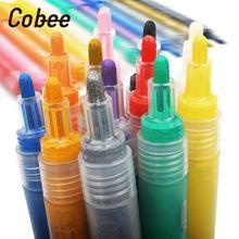 Ручка-маркер для рисования, водостойкая ткань, ручка для рисования, товары для рукоделия, покрышки, металлические краски, чернила, граффити, краска, маркер, кристальная оболочка