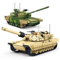 GUDI 2155Pcs M1A2 Abrams Tank Legoingly Main Battle 99A Military Tank Set Toys Building Block Models Bricks Kids DIY Gifts