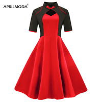 4XL Chinese Style Plus size Faux Jacket Dress One Piece Summer Women Hollow Out Rockabilly Vintage Pin Up 50s Swing Skater Dress