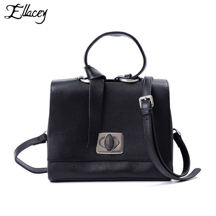 New 2018 Genuine Leather Women Bag Cow Leather Classic Crossbody Shoulder Bag Brand Designer Simple Lady Small Messenger Bags aequeen new pu leather womens shoulder crossbody bag brand designer lady small shell bags girls mini single messenger bolsa