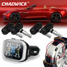 LCD Kablosuz Akıllı Araba TPMS 12 V Dijital Lastik Basıncı Izleme Sistemi Lastik Basıncı araba Alarmı Dahili Sensör CHADWICK 720N