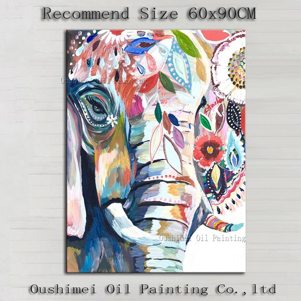 Картина маслом в рамке пять частей современные абстрактные цветочные картины для гостиной стены - 2