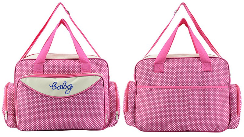 MOTOHOOD Baby Diaper Bag Organizer Baby Care Carriage Bag For Stroller Fashion Dot Multifunction Baby Bags For Mom 451530cm (6)