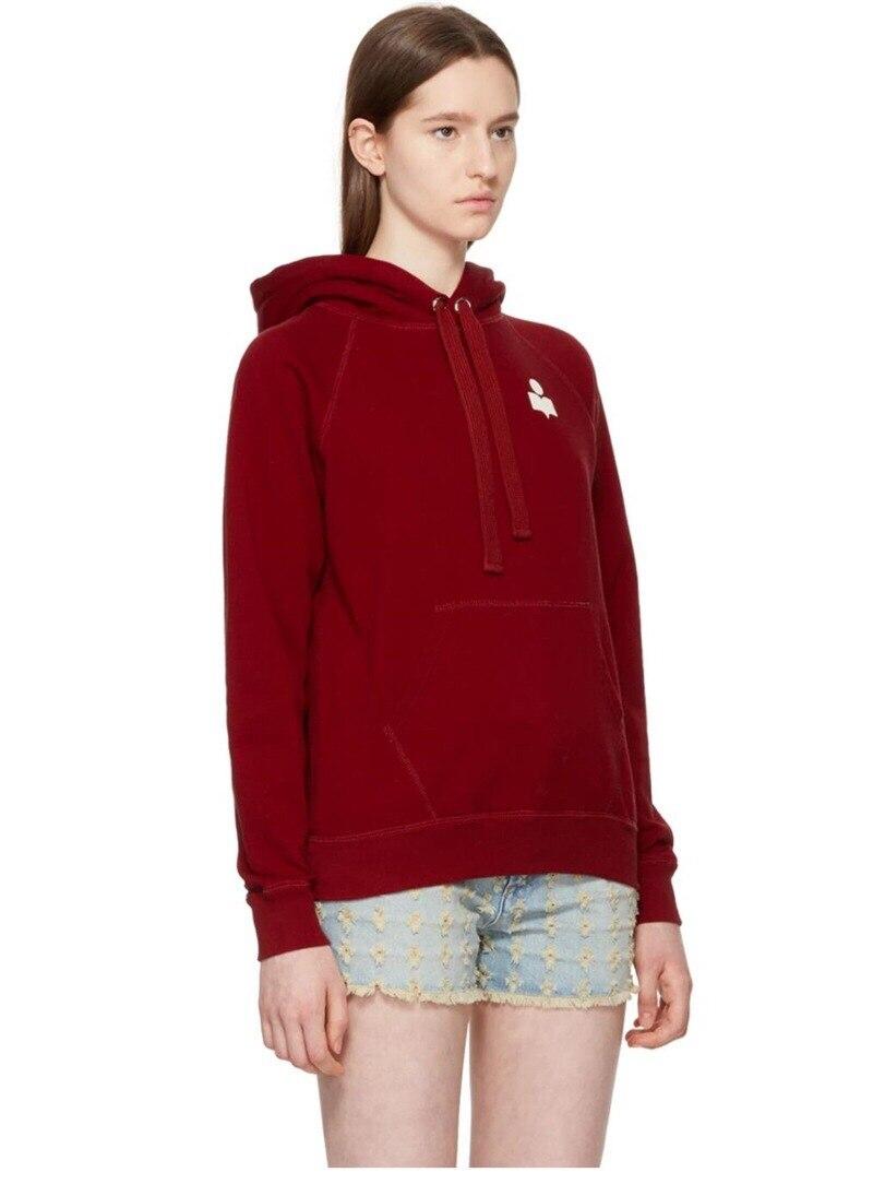 ผู้หญิงแขนยาวลำลอง Hooded Hoodie Sweatshirt-ใน เสื้อฮู้ดและเสื้อกันหนาว จาก เสื้อผ้าสตรี บน   3