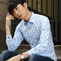 TG6338 Cheap wholesale 2016 new Business men long sleeve shirt han edition cultivate one's morality type youth pure color shirt