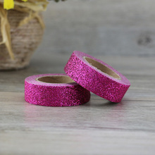 купить 1X purple Glitter Sparkle Washi Tape for Christmas Gift Wrapping Adhesive Masking Decorative DIY Tape (1.5CMx5M) по цене 73.48 рублей