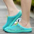 2016 zapatos de las sandalias de las mujeres ocasionales mens caseros amantes zapatillas de hombre de verano de san valentín slipony mujeres flip flops hombres zapatos mula mans