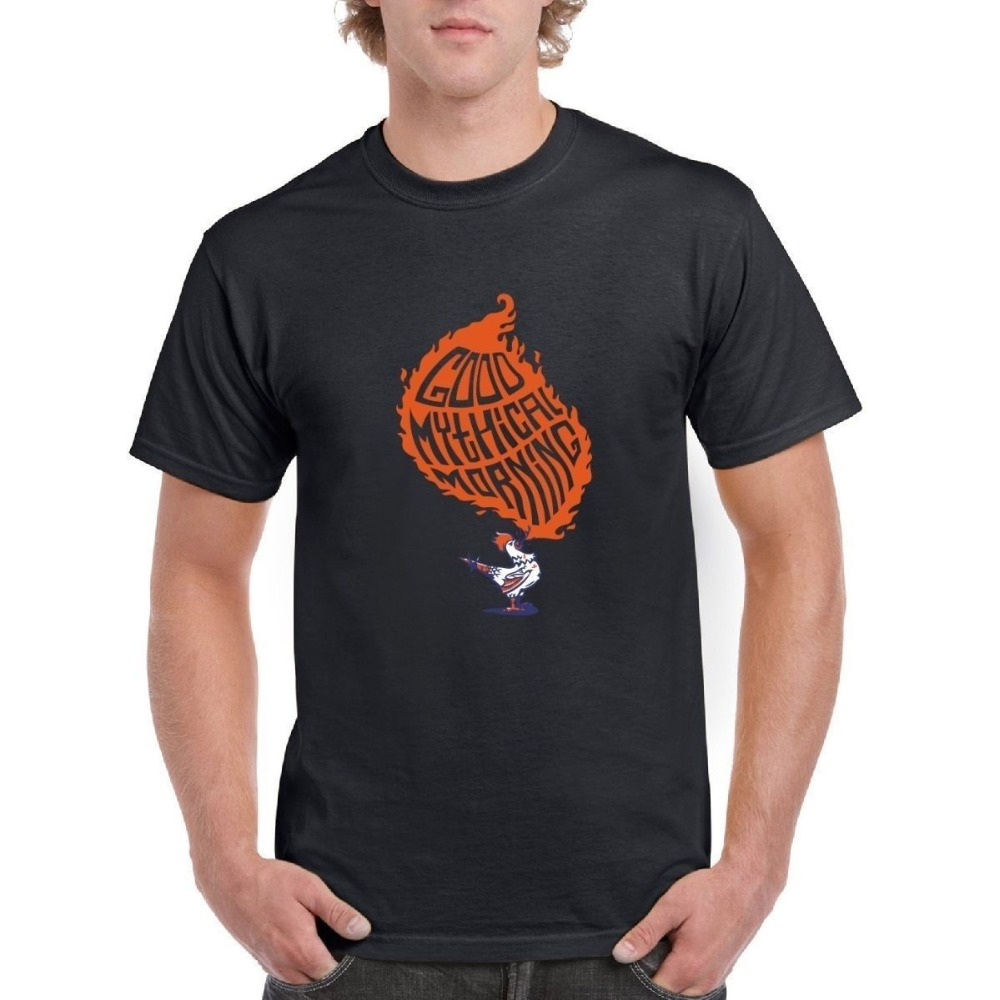 Cool Shirt Designs O-Neck Short Sleeve Print Mens Good Mythical Morning Funny Mens Tee