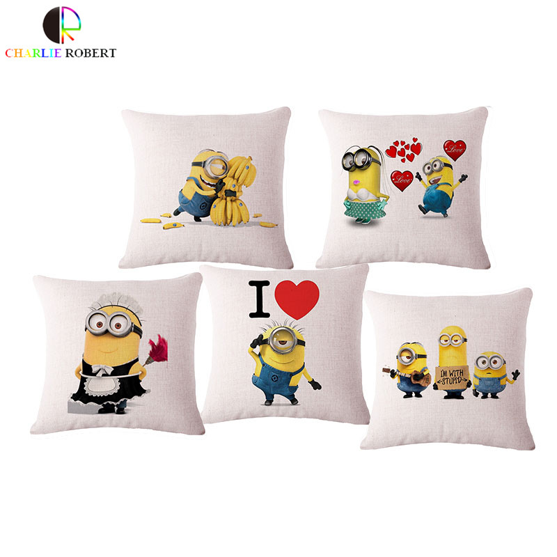 Lovely Minion Children Chair Bed Decorative Cushion Case Hot Sale Cartoon Home Decor cushions Pillow With no filling PAd hh1076