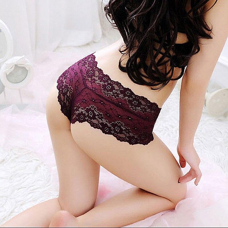 GUMPRUN Sexy Style Lace Panties Tempting Low Waist Floral Panty Breathable Panties Women Jacquard Seamless Briefs Cozy Boyshort