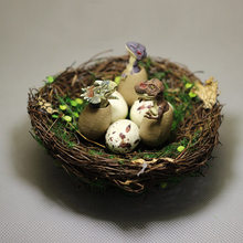 New~Dinosaur eggs nests/fairy garden gnome/moss terrarium home decor/craft/bonsai/miniatures animals/figurine/diy supplies(China)