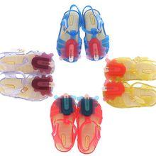 2017 Nouveau Enfants Mini Melissa Gelée Sandales Pour Bébé Filles des Enfants de crème glacée D'été Mignon de Bande Dessinée Plage Chaussures Infantil Sandalia