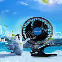 12V 6 Inch Car Clip Fan Powerful Quiet Automobile Cooling Fan Ventilation Electric Car Fans Cigarette