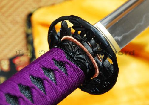 Ručno rađena japanska katana mač Glina Kaljeno UNOKUBI ZUKURI - Kućni dekor - Foto 5