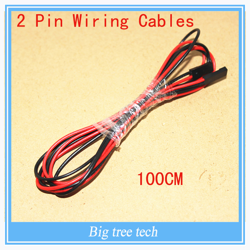 Free Shipping 10sets/lot 100cm 2Pin 2 Pin Female To Female Jumper Wire Dupont Cable For 3D Printer