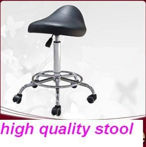 UK Free Shipping  black Saddle Salon Massage lab office computer Stool Chair for office, hospital, spa and home use 23M03-BLACK