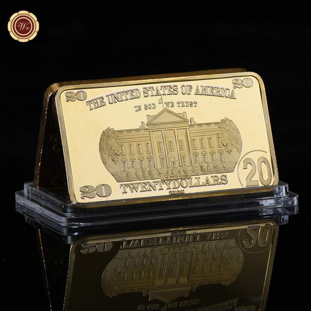 WR 2 Dollar 24 karat Gold Banknote Gold Bar Kreative Business ...