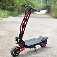 Foldable 3200W dualtr electric skateboard hover board trottinette electrique adulte vespa fat tire scooter 85km crazy seed
