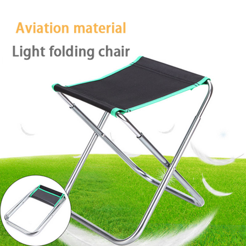 medium size Aluminum Alloy chair Folding Fishing Chair Ultra Lightweight Outdoor Picnic Camping Chair Lounger Chair Portable