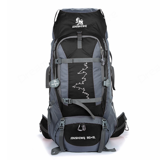 6fcd4f85097c Outdoor Backpack Unisex Travel 85L Men Climbing Backpacks Waterproof  Rucksack Nylon Sports bag Camping Hiking Backpack