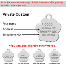 Glitter Custom Pet Dog Tag